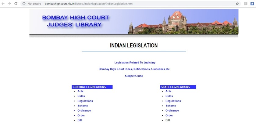 Getting official Copies of Central & State government's Acts & Rules