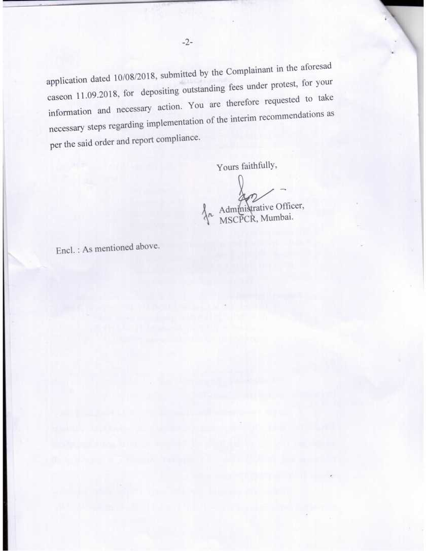 MSCPCR Orders KDMC Commissioner to readmit expelled children Page 2