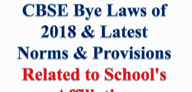 CBSE Affiliation Bye Laws