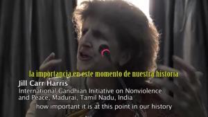 Jill Carr-Harris en el Congreso Internacional de Mujeres por la paz y la noviolencia
