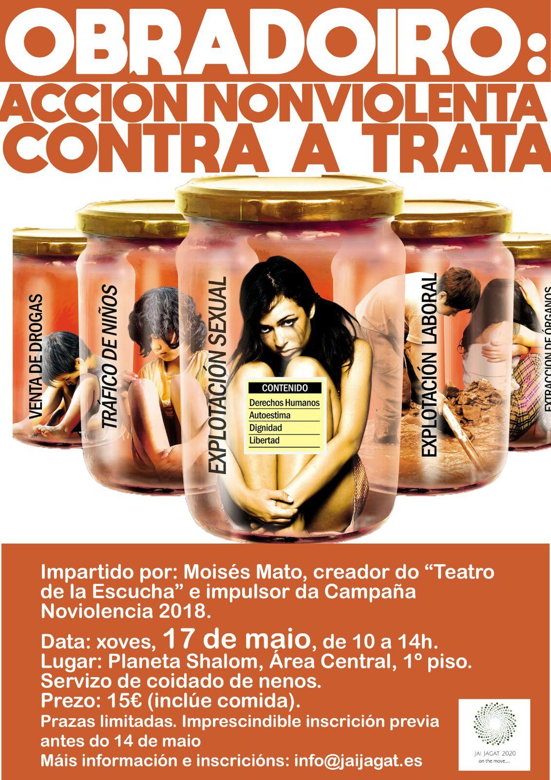 Santiago de Compostela: Acción noviolenta contra la trata