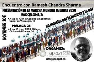 Barcelona y Málaga. Presentación con Ramesh Chandra Sharma
