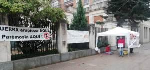 """""""Plante por la paz"""" en Burgos contra la fabricación y venta de armas"""