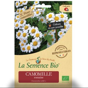 Camomille - Sachet de graines bio pour les semis du potager - 332
