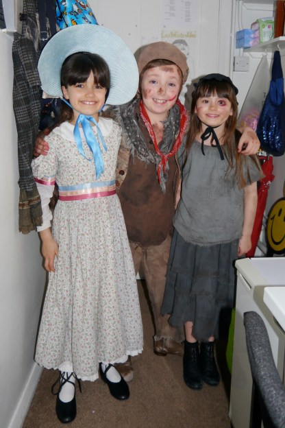 The kids in Les Miserables, Little Cosette, Little Eponine and Gavroche