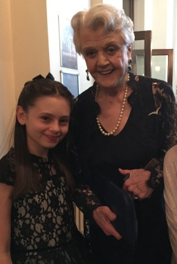 Jaime Adler with Angela Lansbury, who won 'Best Actress in a Supporting Role' for Blithe Spirit... such an icon!!!