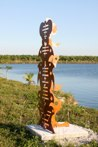 Pontific<br />Steel sculpture made by Jaime Angulo<br />2009<br />Painted<br />Height 8 ft