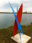 Foca<br />Steel sculpture made by Jaime Angulo<br />2011<br />Painted<br />Height 8 ft