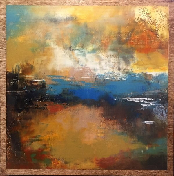 I Imagine Things abstract landscape painting