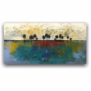 Pleasant Grove abstract landscape oil and cold wax by Jaime Byrd