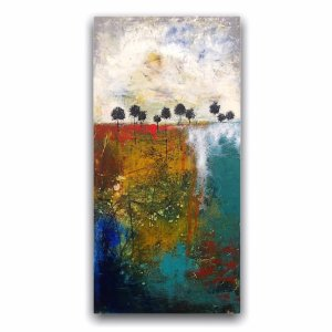 Roots and Heartbeats Landscape art - oil painting