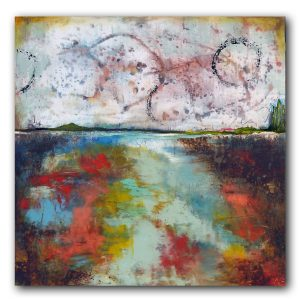 Unlimited Imagination contemporary abstract landscape oil painting