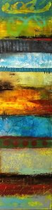 Ancient Stories - modern abstract oil painting
