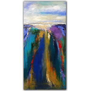 Cascade - abstract landscape acrylic painting