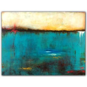 Blue landscape oil painting by Jaime Byrd
