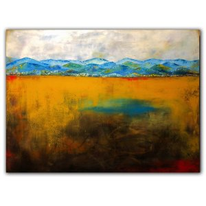 Mountain landscape oil painting by Jaime Byrd