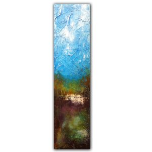 Colorful oil and mixed media landscape abstract painting by Jaime Byrd