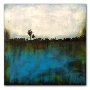 Bluescape No. 2 - Oil and Cold Wax painting by Jaime Byrd