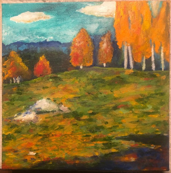 Fall In The Mountains - Oil on Canvas by Jaime Byrd