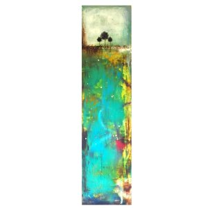 From The Ground Up - Abstract landscape in oil and cold wax by Jaime Byrd