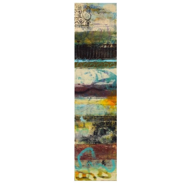 Hierarachy - contemporary abstract oil and cold wax by Jaime Byrd
