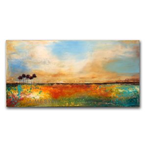 Peaceful Ground - abstract contemporary landscape in oil and cold wax by Jaime Byrd