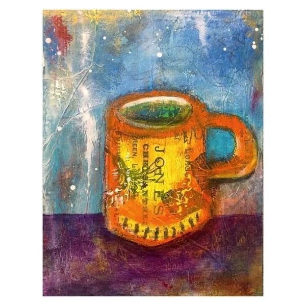 Jonesin for Joe - Acrylic painting by Contemporary Artist Jaime Byrd