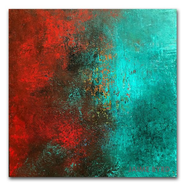 Transformation - abstract oil and cold wax painting by contemporary artist Jaime Byrd
