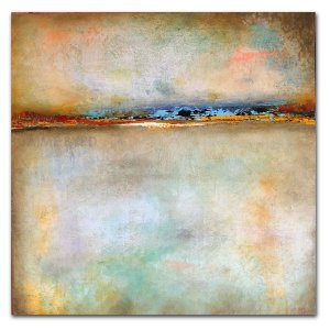 Escape - abstract oil and cold wax painting by contemporary artist Jaime Byrd
