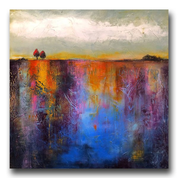 Colorful oil landscape painting by Jaime Byrd