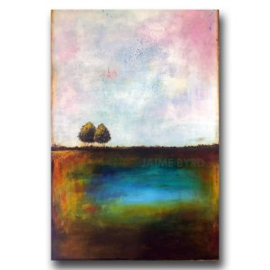 A Good Aftenoon - abstract landscape oil and cold wax painting by contemporary artist Jaime Byrd