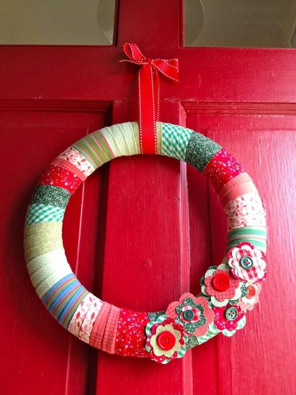 Diy Fabric Wrapped Wreath - Jaime Costiglio