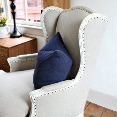 Diy Reupholster Living Room Chair Pics Of Small Designs How To A Wing Jaime Costiglio