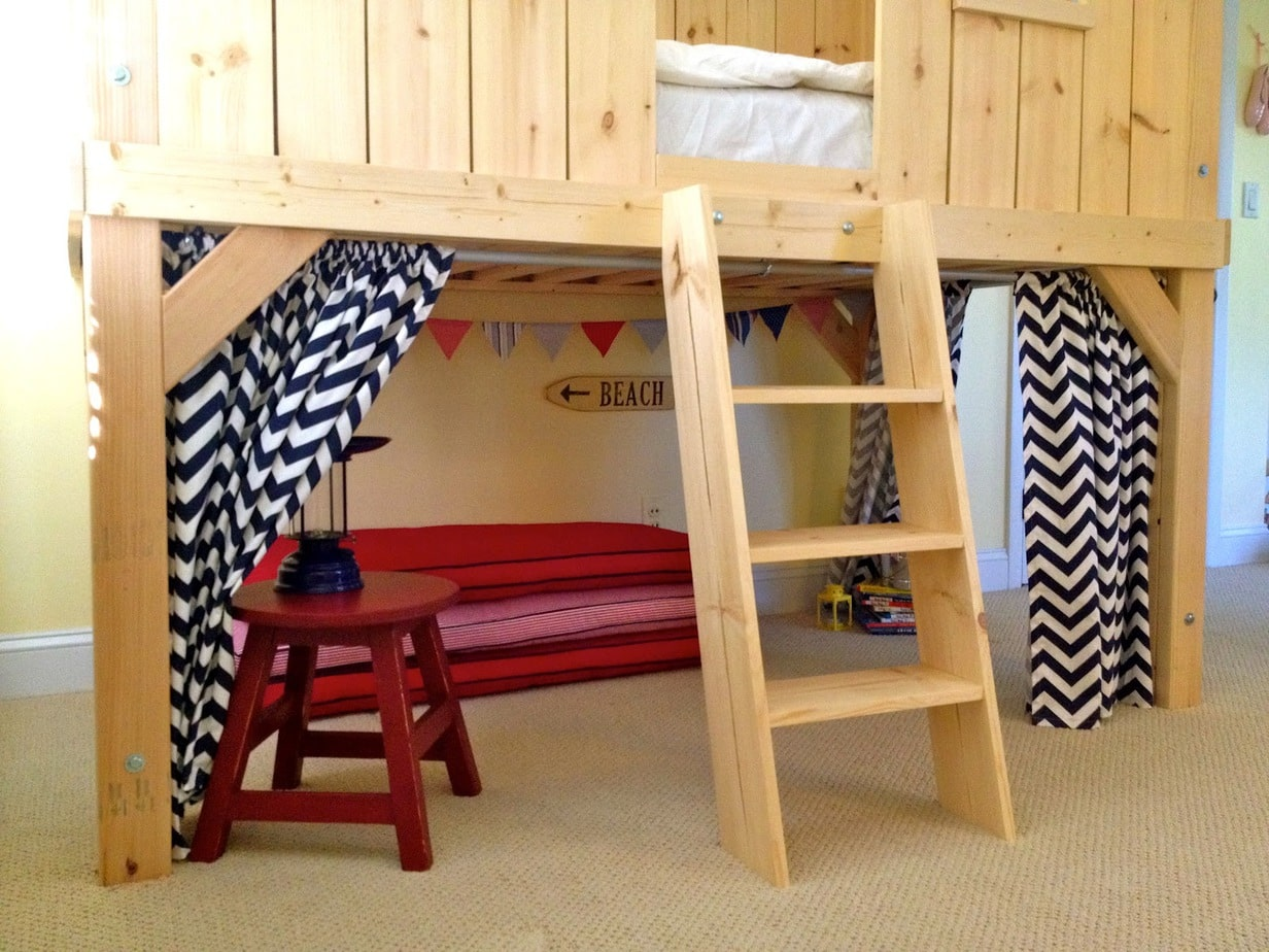 diy clubhouse loft bed for kids jaime