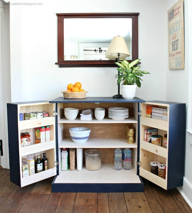 kitchen freestanding pantry narrow island with seating diy cabinet jaime costiglio a tutorial to build free plans make your functional accessible storage and more counter space