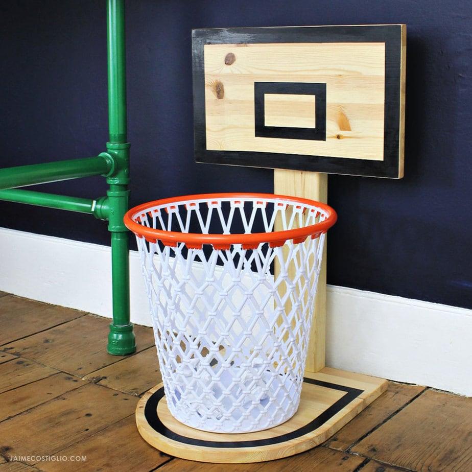 DIY Basketball Hoop Trash Can  Jaime Costiglio