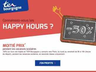 TER Bourgogne, voyager moins cher avec l'offre Happy HoursTER Bourgogne, voyager moins cher avec l'offre Happy Hours