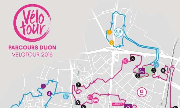 Vélotour Dijon : découvrez le parcours de l'édition 2016
