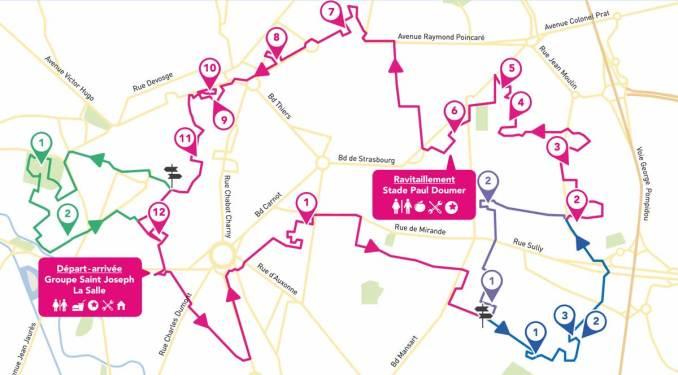 Parcours Dijon Vélotour 2018