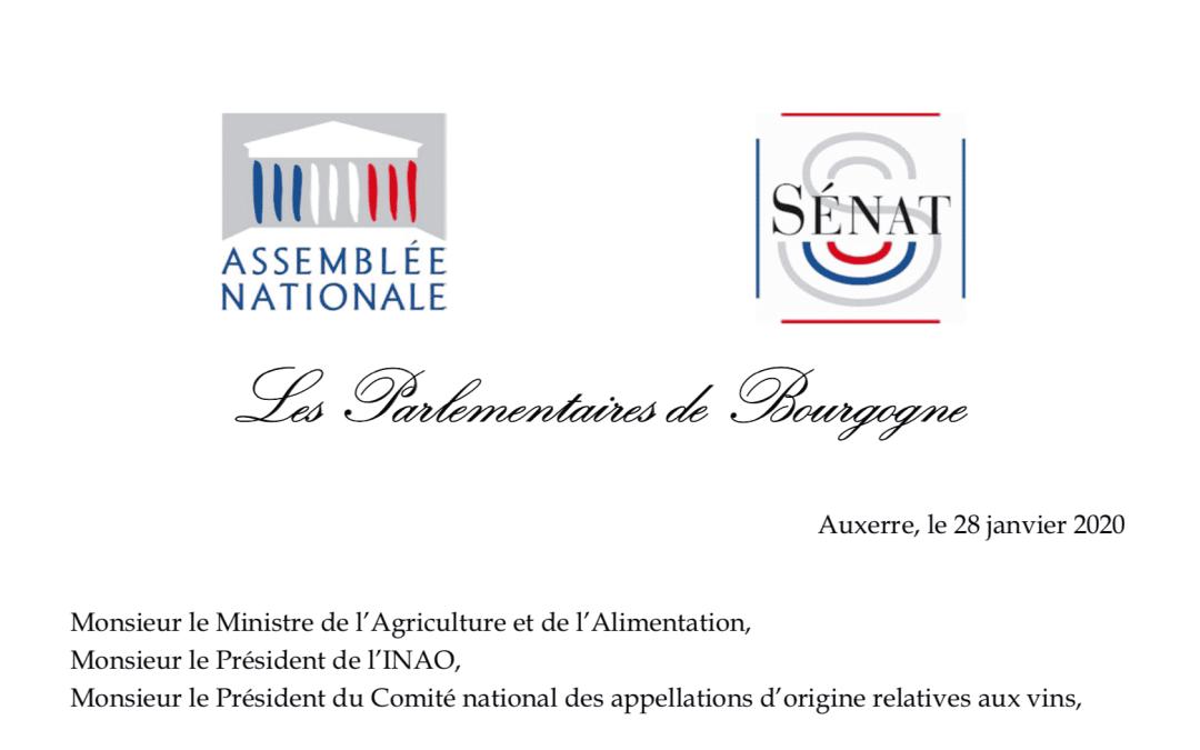 12 parlementaires en colère pour défendre l'appellation Bourgogne