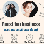 """Conférence en ligne """"Boost ton business"""""""