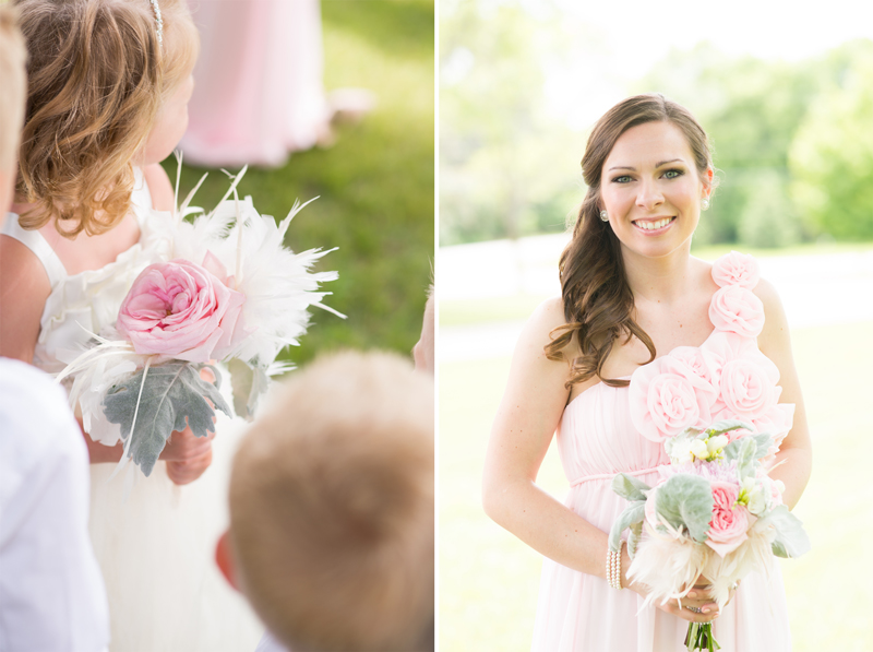 Bridesmaid with pink dress