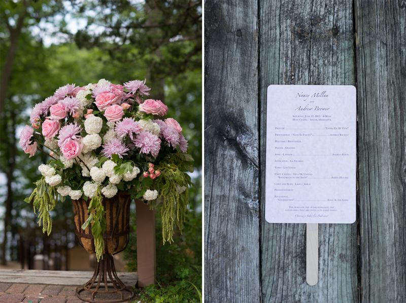 Wedding Order of Service on Wood