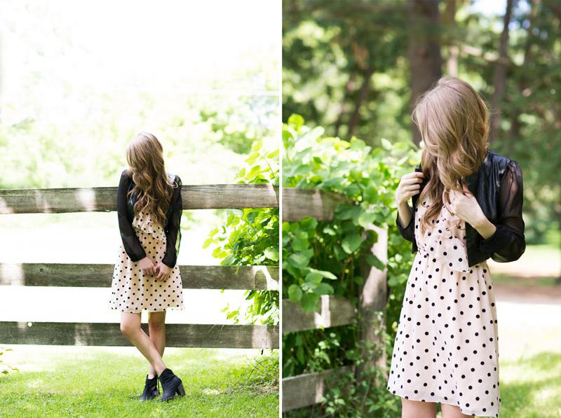 summer-lookbook-minneapolis-polka-dot-dress-black-jacket