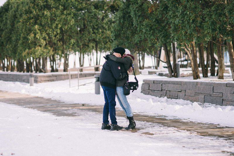 minneapolis proposal photography at walker art sculpture garden
