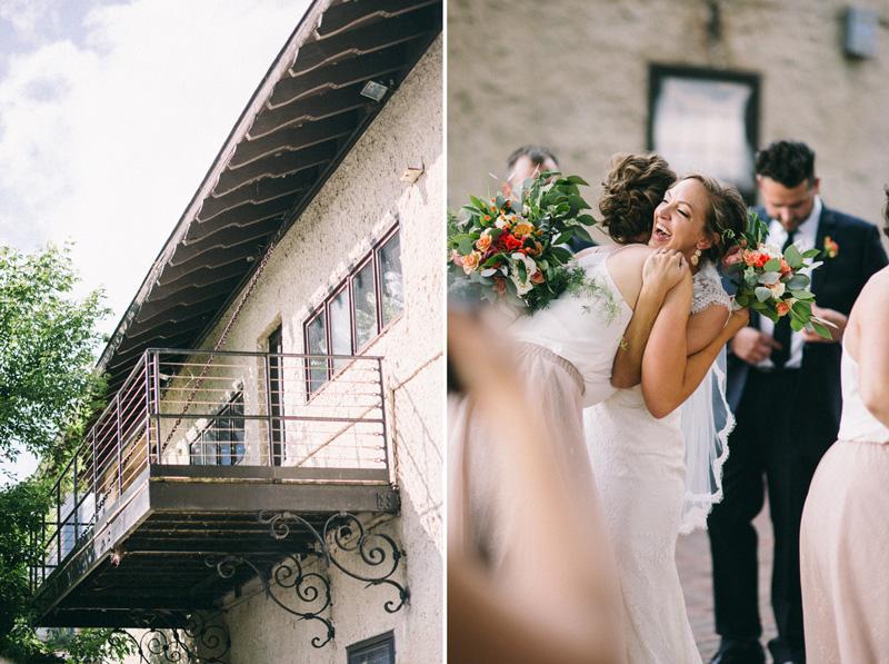 Minnesota boat club wedding ceremony