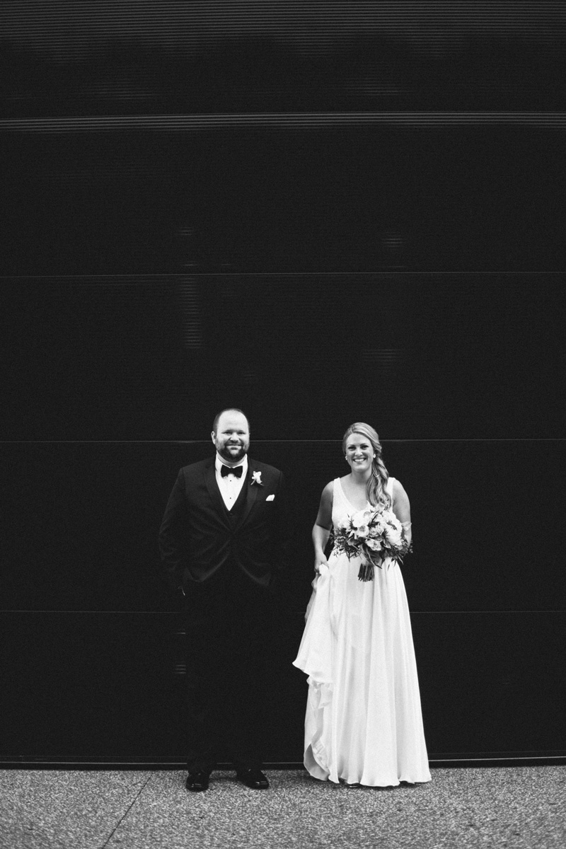 downtown minneapolis bride and groom portraits