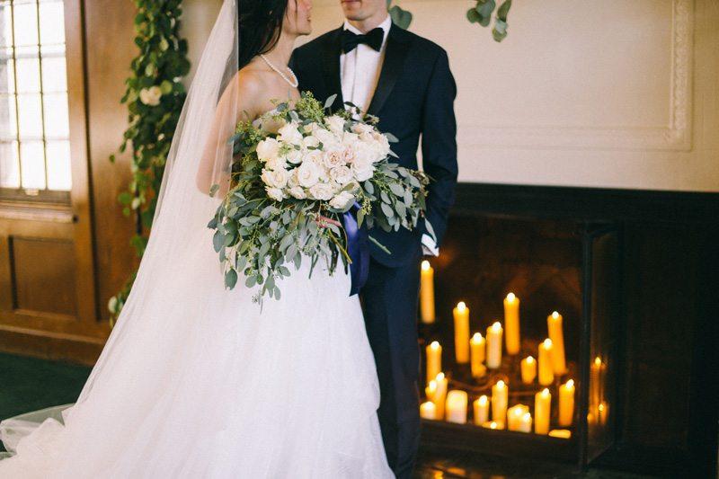 St Paul winter wedding bridal party photos