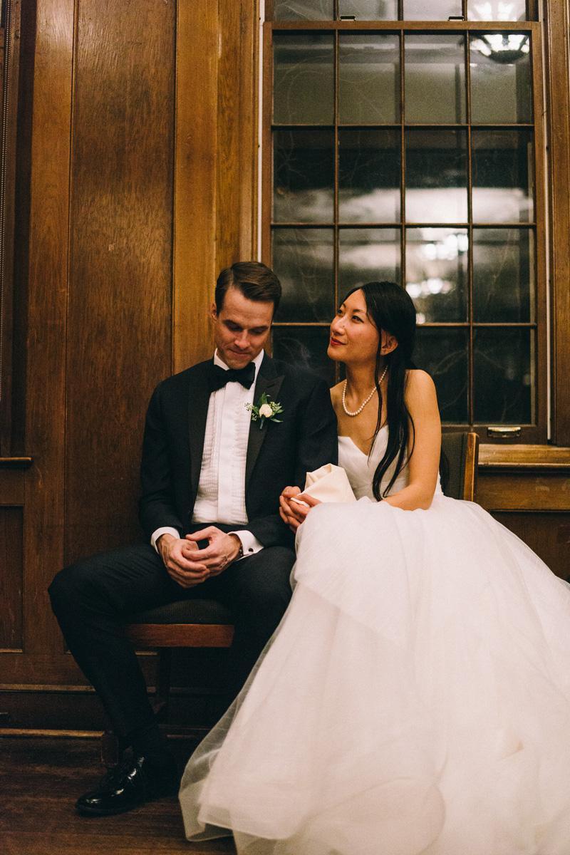 St Paul winter wedding reception