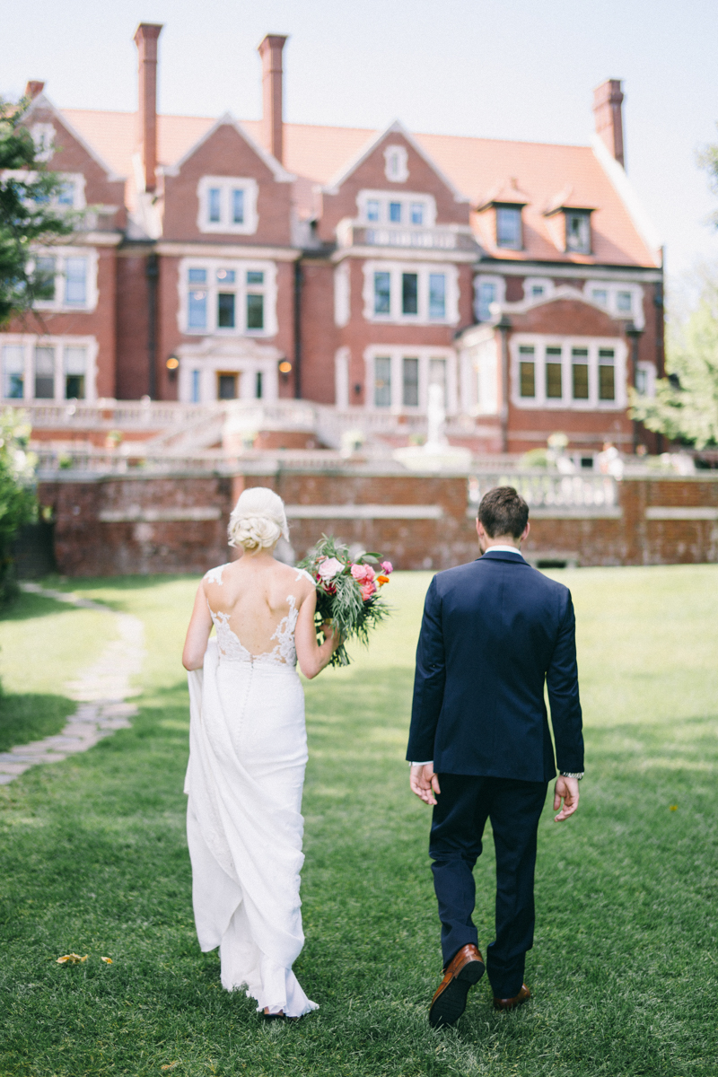 Waterfront private estate mansion wedding